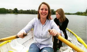 girl rowing boat