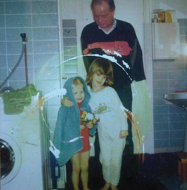 Papa, Laura en ik