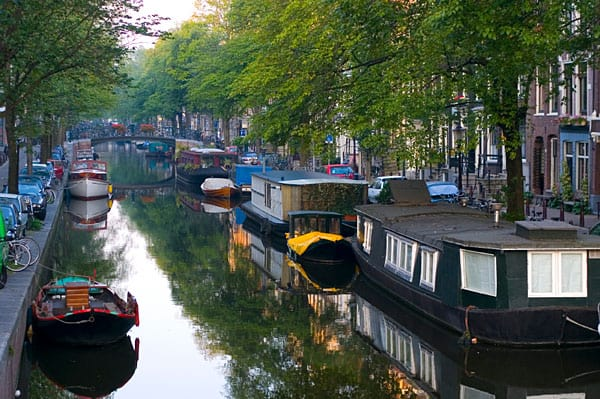 Houseboats in a Dutch canal