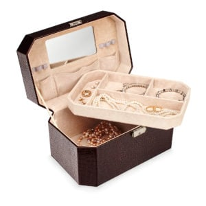 Vanity Case with Jewelry
