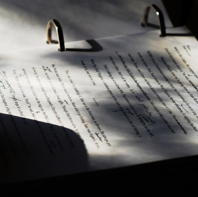 A printed manuscript that has been corrected and edited with a pen