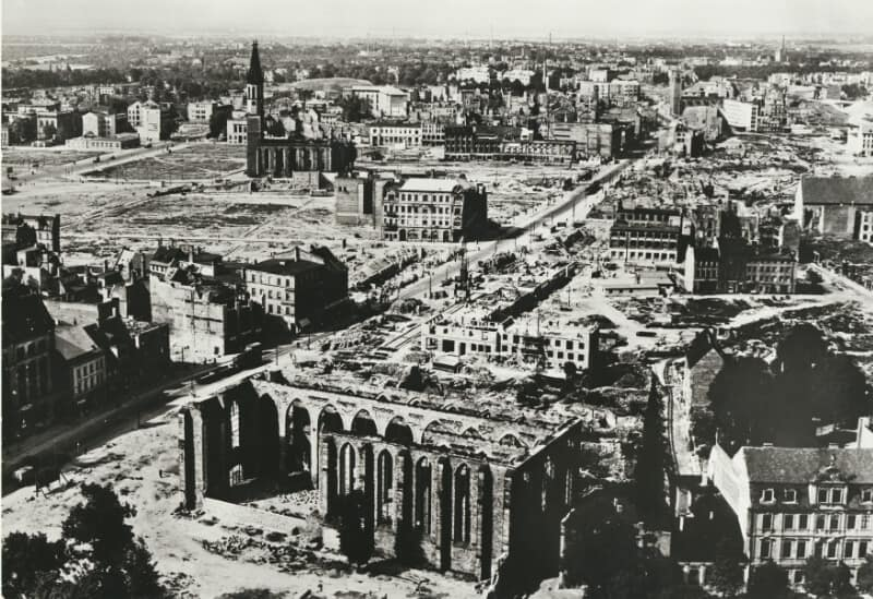 Magdeburg was devastated during the war
