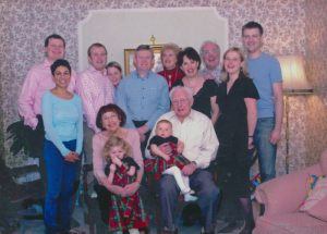 The family together at Christmas