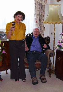 Celebrating their golden wedding anniversary